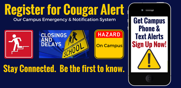 Cougar Alert--Lawson's Campus Emergency Notification System.  Click  Here.